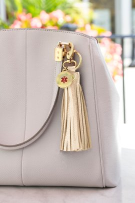 Lauren's Hope Purse or Key Tassel Medical ID Tag