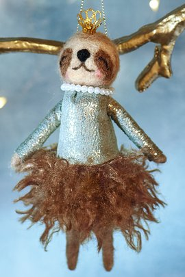 Sally Sloth Ornament