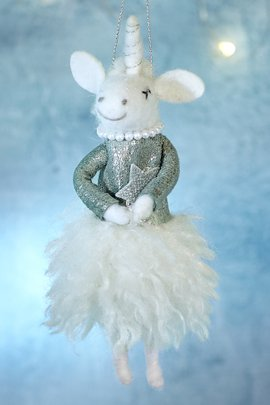 Yasmina Unicorn Ornament
