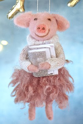 Paulina Pig Ornament
