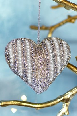 Jeweled Heart Ornament