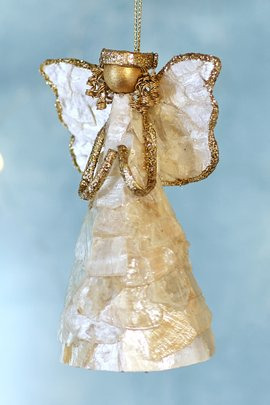 Angelita Capiz Shell Ornament