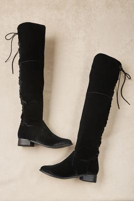 Alessio Stretch Velvet Boots