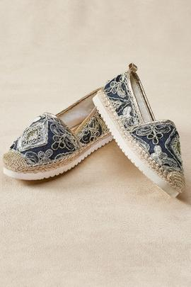 Agleam Embroidered Espadrilles
