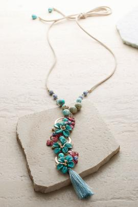 Floral Cascade Pendant Necklace
