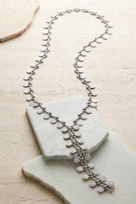 Long Zipper Coin Necklace