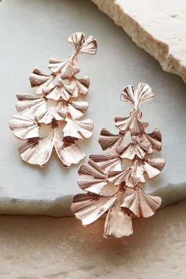 Tiered Leaf Earrings
