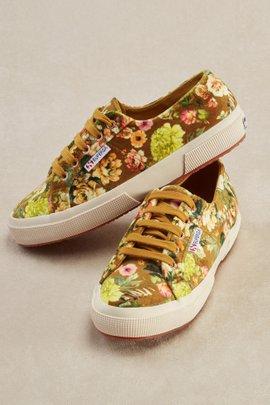 Superga Velvet Floral Sneakers