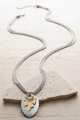 Jagged Leaf Necklace