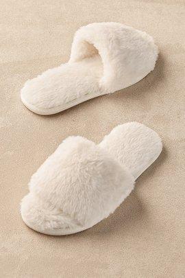 Fab Faux Fur Slipper Slides