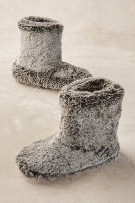 Fab Faux Fur Slipper Boots