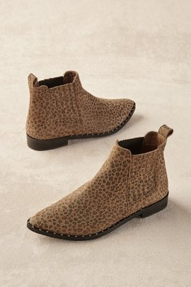 Distressed Leopard Print Booties