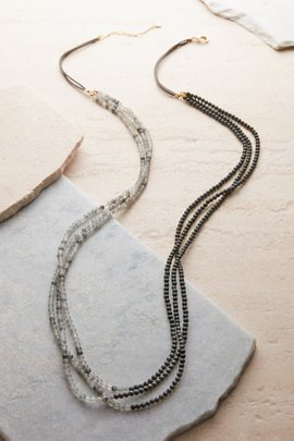 The Suede Stone Necklace