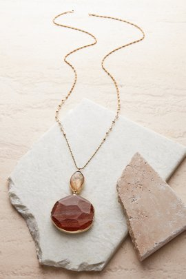 Sparkle Agate Pendant Necklace