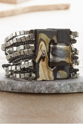 Marbelized Buckle Bracelet