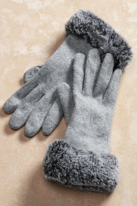 Rachel Faux Fur Gloves