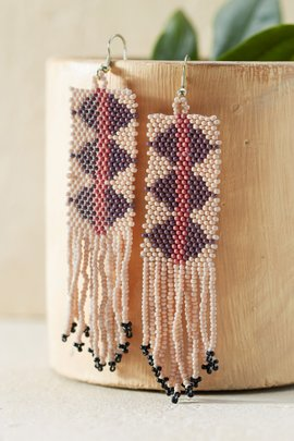 Triangle Fringe Banner Earrings