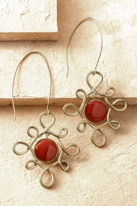 Goldstone Swirled Earrings