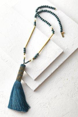 Wood Tassel Necklace