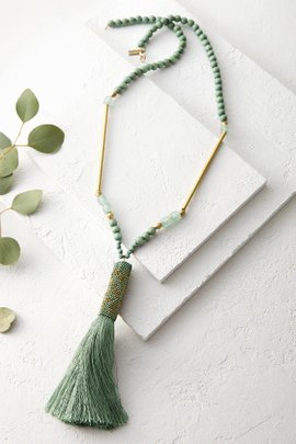 Wood Tassel Necklace