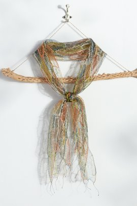 Embroidered Silk Scarf