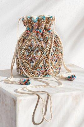 Mini Crystal Bucket Bag