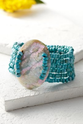 Ellipse Shell Bracelet