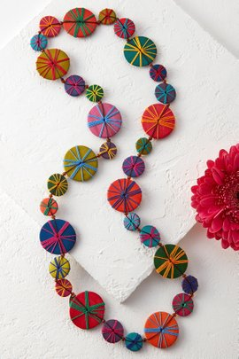 Threaded Disc Necklace