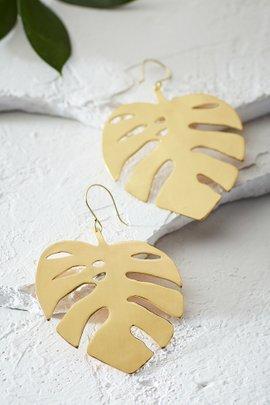 Palm Leaf Earrings