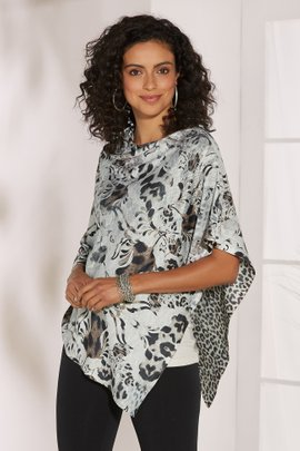 Tulip Leopard Printed Poncho