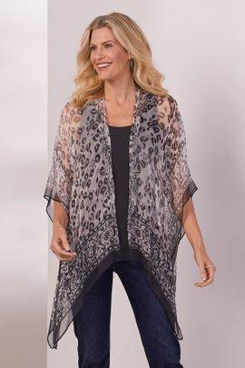 Embellished Leopard Kimono