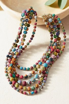 Intertwining Kantha Necklace