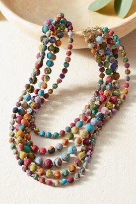 Intertwining Kantha Necklace