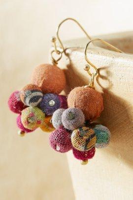 Kantha Drop Earrings