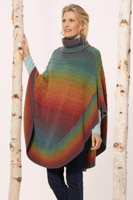 Over the Rainbow Poncho