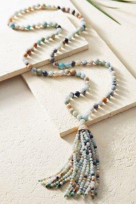 Sofi Amazonite Tassel Necklace