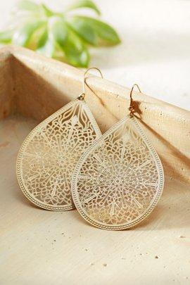 Lattice Leaf Earrings