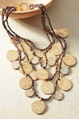 Spangled Coin Necklace