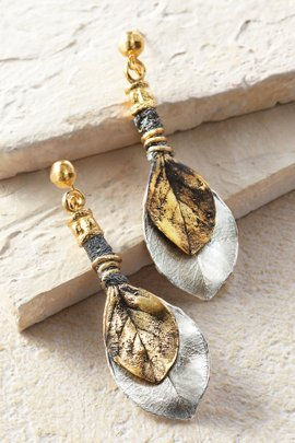 Duo Leaf Earrings