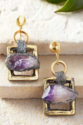 Amelie Amethyst Earrings