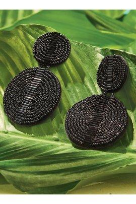 Beaded Double Circle Earrings
