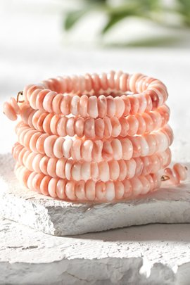 Spiral Beaded Stacked Bracelet
