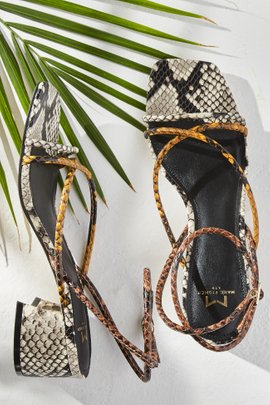 Strappy Mid-Heel Sandal