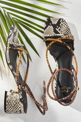 Strappy Mid-Heel Sandal