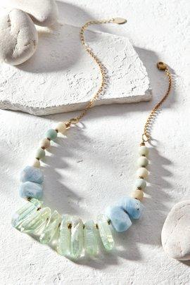 Hespera Mermaid Crystal Necklace