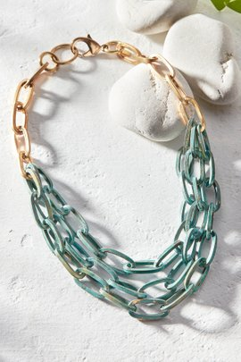 Multi Layer Patina Link Necklace