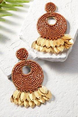 Seed Bead Circle Earrings