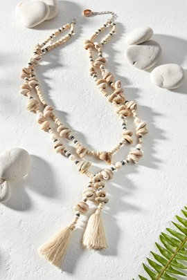 Double Layered Shell Necklace
