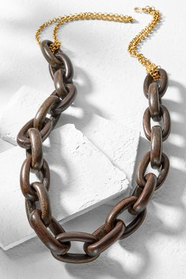 Wooden Link Necklace
