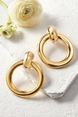 Polished Gold Earrings